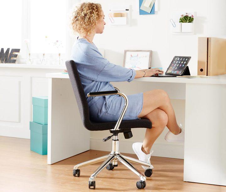 Schreibtischstuhl, dunkelgrau