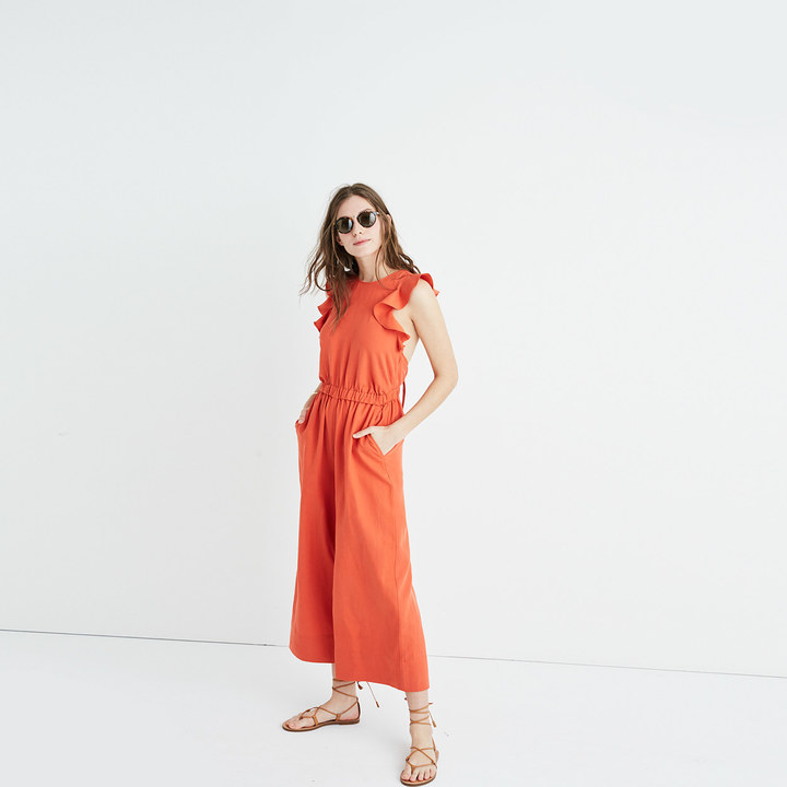 Ulla JohnsonTM Viola Ruffled Jumpsuit