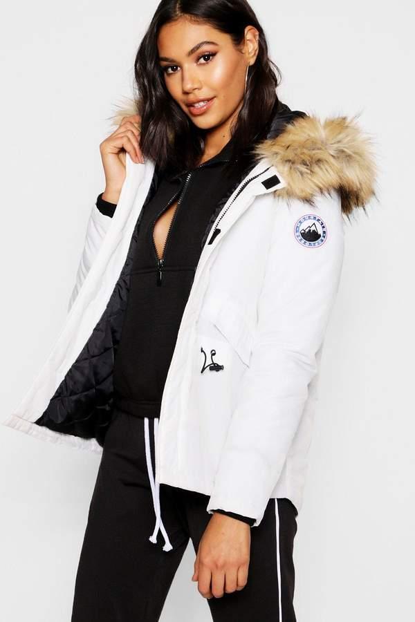 Luxe Faux Fur Sporty Parka