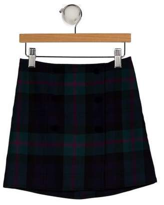 Brooks Brothers Girls' Wool Plaid Skirt