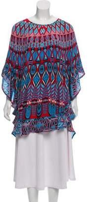 Tolani Silk Printed Poncho w/ Tags