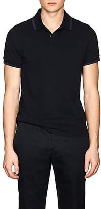 Moncler Men's Cotton Piqué Polo Shirt - Navy