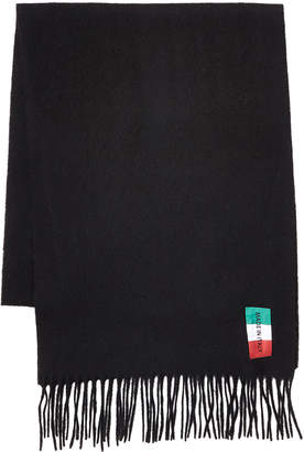 Made In Italy Solid Wool Scarf