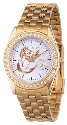 Disney Women's Princess Ariel Gold Alloy Glitz Watch - Gold
