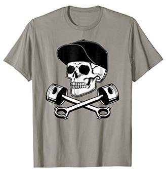 Perfect Trendy Skull Pit Crew Race Car Motorcycle T-Shirt
