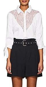 Opening Ceremony Women's Lace-Inset Cotton Blouse-White