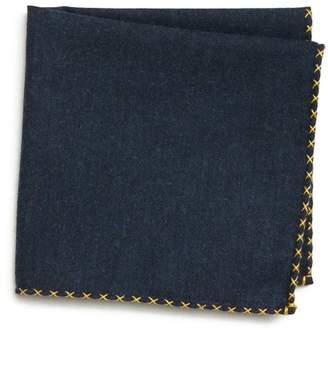 Eleventy Solid Cotton Pocket Square