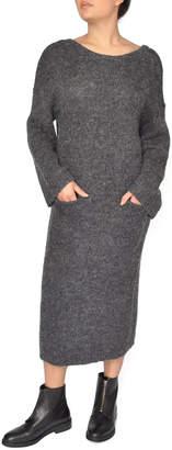 NATIVE YOUTH Grey Sweater Dress