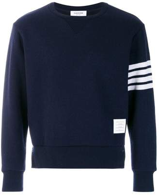 Thom Browne Relaxed Fit Engineered 4-Bar Stripe Cashmere Shell Sweatshirt