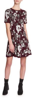 Kenzo Fit-&-Flare Jacquard Tee Dress