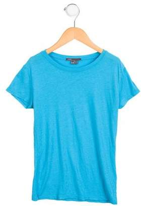 Vince Girls' Knit Scoop Neck T-Shirt