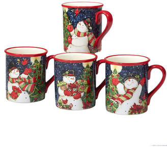 Certified International Starry Night Snowman 4-Pc. Mug asst.