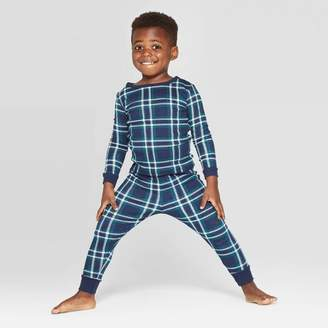 EV Holiday Toddler Family Pajama Blue Plaid Set - Blue