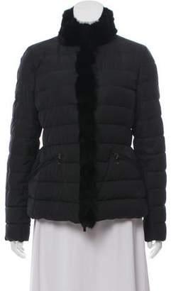 Moncler Perdrix Fur-Trimmed Jacket