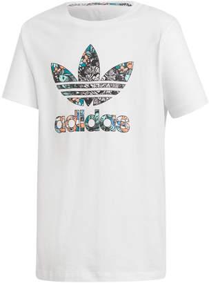 adidas Big Girls Zoo-Print Logo Cotton T-Shirt