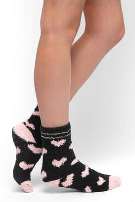 PJ Salvage Hearts Fuzzy Socks