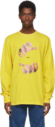 Off-White Yellow Long Sleeve Hands T-Shirt