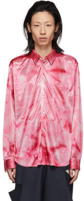 Comme des Garcons Pink Jersey Bright Uneven Dyed Shirt