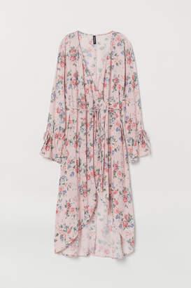 H&M Patterned Wrap-front Dress - Pink