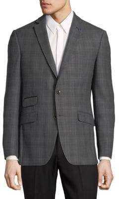Ted Baker No Ordinary Joe Grid Wool Sportcoat