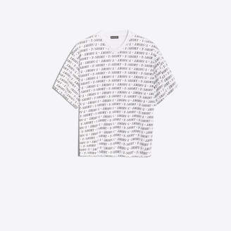 Balenciaga Cotton T-shirt with all over 'T-Shirt' print