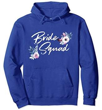 Bride Squad Bridal Party Floral Wedding Hoodie Gift