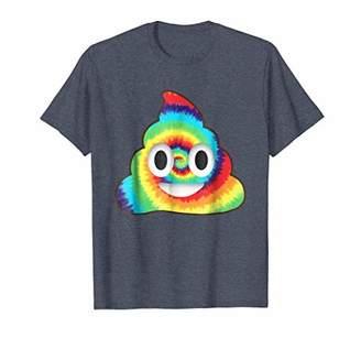 Tie Dye Poop Emoji Shirt Peace Heart Love Rainbow Tee