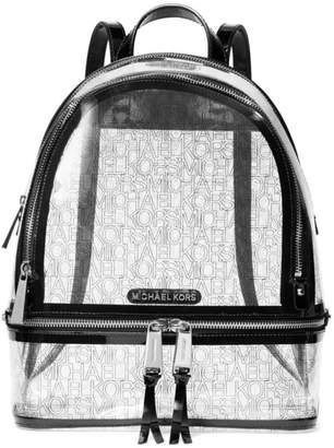 MICHAEL Michael Kors Medium Rhea Clear Zip Backpack