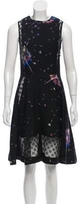Thakoon Lace-Inset Dandelion Print Dress