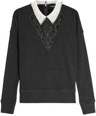 The Kooples Sweatshirt with Lace and Embellishments