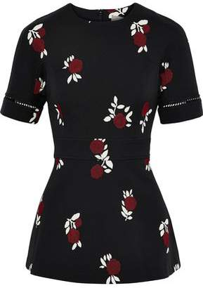 Lela Rose Cotton-Jacquard Top