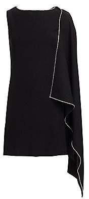 McQ Women's Cascade Crepe Shift Dress