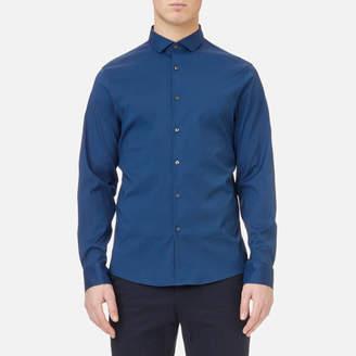 Michael Kors Men's Slim Fit Spread Collar Stretch Nylon Poplin Shirt