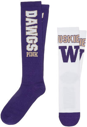 PINK University of Washington Collegiate Socks