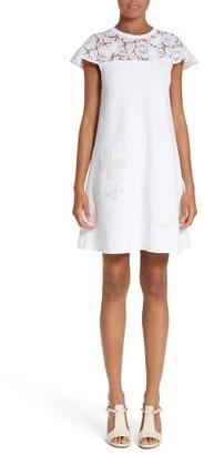 Women's Valentino Butterfly Lace Yoke Dress $3,850 thestylecure.com