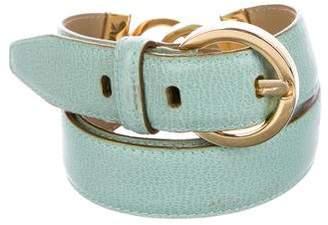 Salvatore Ferragamo Textured Leather Belt