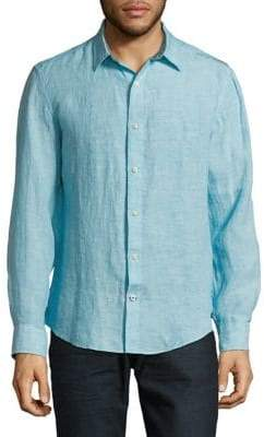 Nautica Long-Sleeve Linen Sport Shirt