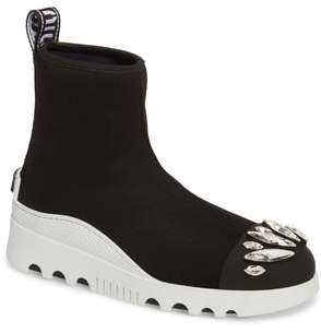 Miu Miu Embellished Sock Boot