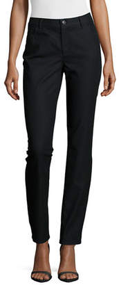 Lafayette 148 New York Thompson Yarn-Dyed Denim Slim-Leg Jeans, Plus Size