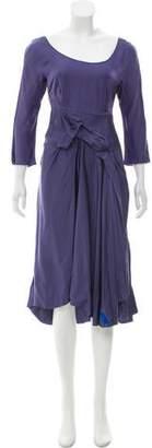 Marni Long Sleeve Midi Dress