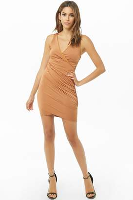 Forever 21 Ruched Surplice Mini Dress