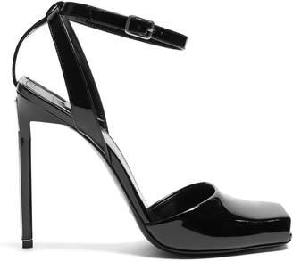 Saint Laurent Edie patent-leather sandals