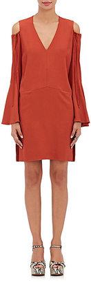 Derek Lam Women's Crepe Open-Shoulder Shift Dress-ORANGE $639 thestylecure.com
