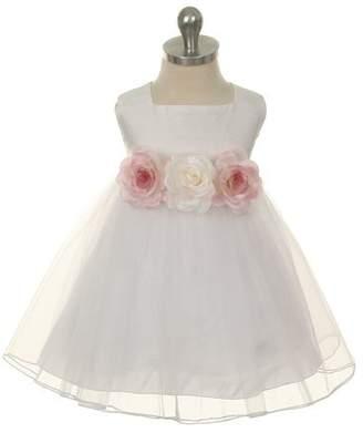 Kids Dream Camilla- Baby Dupioni Silk Dress White