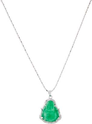 Jean Claude Silver-Tone Jade Pendant Necklace