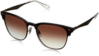 Ray-Ban RB3576N (Blaze Clubmaster) - Frame-Clear Gradient Red Mirror Red 47mm Lenses