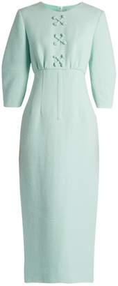 Emilia Wickstead Fabia shantung-tweed dress