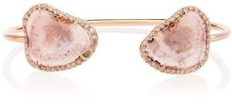 Kimberly Mcdonald Rose Gold Geode And Diamond Cuff