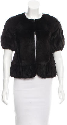 Vera Wang Lavender Label Sheared Fur Jacket $375 thestylecure.com