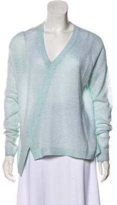 White + Warren Asymmetrical Cashmere Sweater